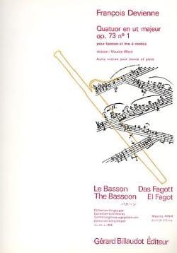 François Devienne - Quatuor en ut majeur op. 73 n° 1 –Basson trio à cordes - Partition - di-arezzo.fr