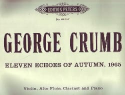 George Crumb - Eleven echoes of Autumn, 1965 - Sheet Music - di-arezzo.com