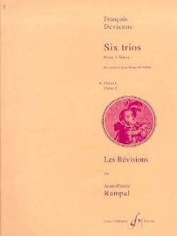 6 Trios Cahier 1 - 3 Flûtes François Devienne Partition laflutedepan