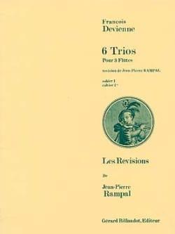 François Devienne - 6 Trios (Cahier 2) - 3 Flûtes - Partition - di-arezzo.fr