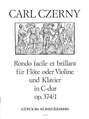Rondo facile et brillant op. 374 n° 1 C-Dur - Flöte Violine Klavier laflutedepan