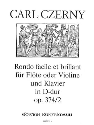 Rondo facile et brillant op. 374 n° 2 D-Dur - Flöte Violine Klavier laflutedepan