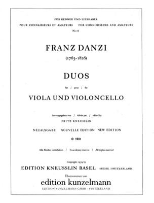 Duos für Viola und Violoncello - Franz Danzi - laflutedepan.com