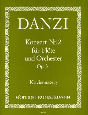Franz Danzi - Concerto No. 2 op. 31 - Flöte Klavier - Sheet Music - di-arezzo.com