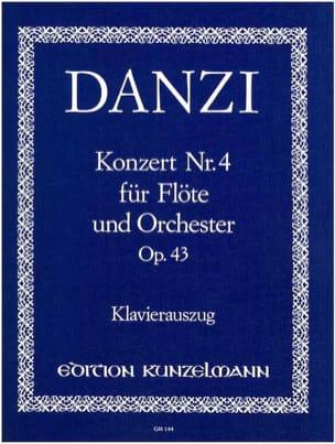 Franz Danzi - Concerto n° 4 op. 43 – Flöte Klavier - Partition - di-arezzo.fr