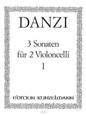 3 Sonaten op. 1 Bd. 1 Franz Danzi Partition Violoncelle - laflutedepan