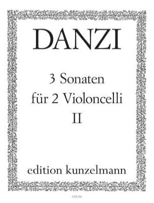 3 Sonaten op. 1 Bd. 2 Franz Danzi Partition Violoncelle - laflutedepan