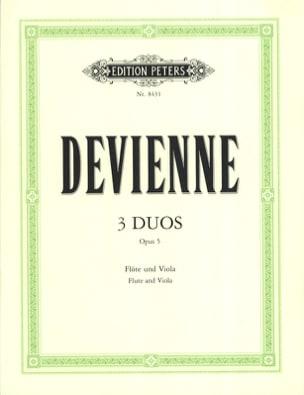 François Devienne - 3 Duos Op. 5 - Flûte et Alto - Partition - di-arezzo.fr