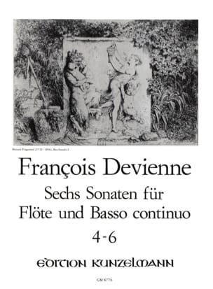 François Devienne - 6 Flötensonaten - Nr. 4-6 - Flöte u. Bc - Partition - di-arezzo.fr