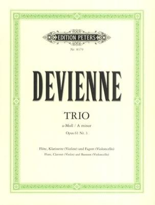 François Devienne - Trio a-moll op. 61 n° 3 –Flöte Klarinette Fagott - Stimmen - Partition - di-arezzo.fr