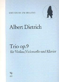 Trio op. 9 -Stimmen - Albert Dietrich - Partition - laflutedepan.com