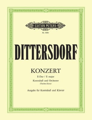 Carl Ditters von Dittersdorf - Konzert in E-Dur – Kontrabass - Partition - di-arezzo.fr