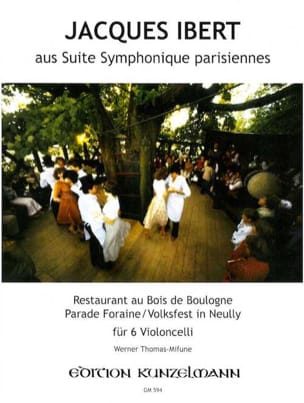 Jacques Ibert - Suite symphonique parisiennes (extr.) – 6 Cellos - Partition - di-arezzo.fr