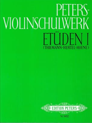 Thiemann Ufert / Hertel Klaus / Hoene Klaus - Peters Violinschulwerk - Etüden Bd. 1 - Partitura - di-arezzo.es