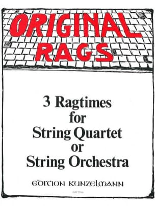 Werner Thomas-Mifune - 3 Ragtimes – String Quartet or Orchestra - Partition - di-arezzo.fr
