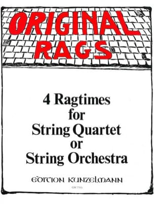 Werner Thomas-Mifune - 4 Ragtimes – String Quartet or Orch., Volume 2 - Partition - di-arezzo.fr