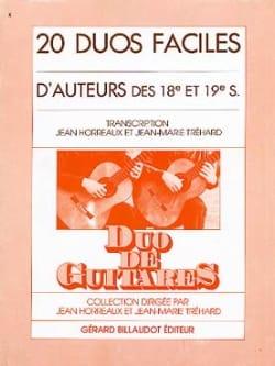 Horreaux Jean / Tréhard Jean-Marie - 20 Duos faciles d'auteurs des 18e et 19e s. - Partition - di-arezzo.fr
