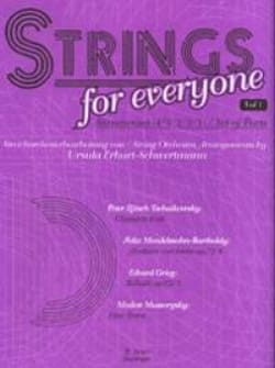 Tchaikovski Piotr Illitch / Mendelssohn Bartholdy Felix / Grieg Edvard - Strings for Everyone, vol 1 – String orch. - Partition - di-arezzo.fr