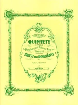Klavierquintett c-moll op. 1 -Partitur + Stimmen laflutedepan