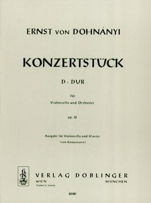Konzertstück D-Dur op. 12 - Cello Klavier DOHNÁNYI laflutedepan