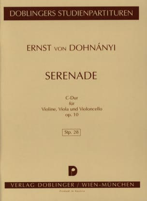 DOHNÁNYI - Serenade C-hard op. 10 - Partitur - Sheet Music - di-arezzo.co.uk