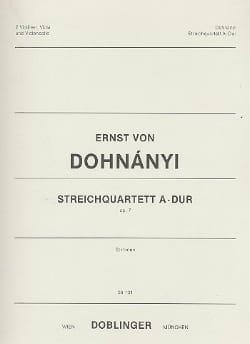 Streichquartett A-Dur op. 7 - Stimmen - DOHNÁNYI - laflutedepan.com