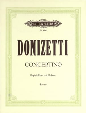 Concertino G-Dur - Englisch Horn u. Orch. - Partitur - laflutedepan.com