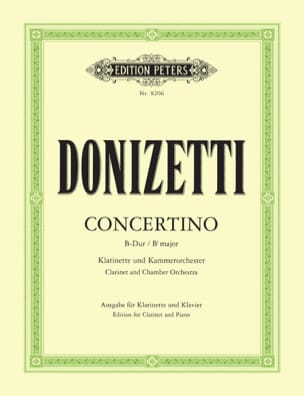 Gaetano Donizetti - Concertino in Si b Major - Partitura - di-arezzo.it