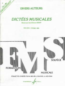 Jean-Clément Jollet - Musical Dictations Volume 1 - Prof. - Sheet Music - di-arezzo.co.uk