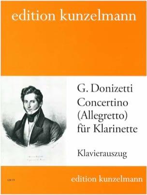 Concertino für Klarinette DONIZETTI Partition laflutedepan