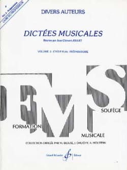 Jean-Clément Jollet - Musical Dictations Volume 2 - Prof - Sheet Music - di-arezzo.co.uk