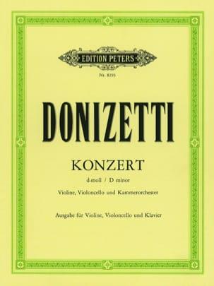 Gaetano Donizetti - Konzert d-moll - Violine Cello Klavier - Partition - di-arezzo.fr
