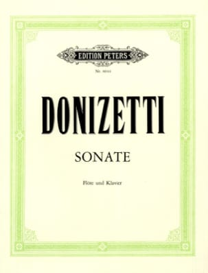 Gaetano Donizetti - Sonate en Do Majeur - Partition - di-arezzo.fr