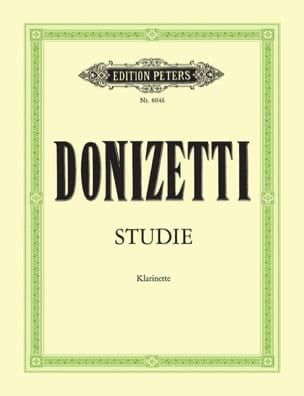 Studie - Klarinette - Gaetano Donizetti - Partition - laflutedepan.com