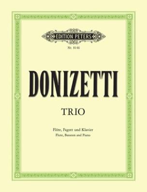 Gaetano Donizetti - Trio En Fa Majeur -flöte Fagott Klavier - Partition - di-arezzo.fr