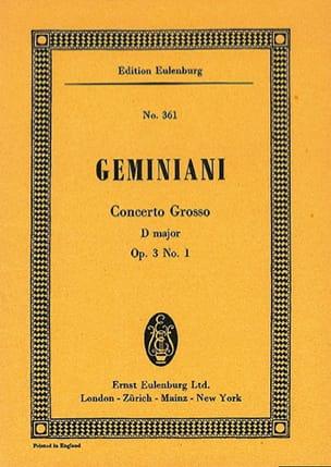 Concerto grosso D-Dur - Francesco S Geminiani - laflutedepan.com
