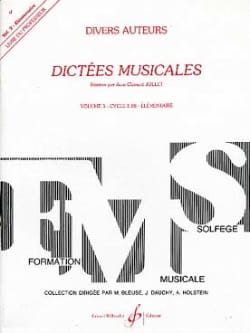 Jean-Clément Jollet - Musical Dictations Volume 3 - Prof - Sheet Music - di-arezzo.com