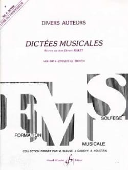Jean-Clément Jollet - Musical Dictations Volume 4 - Prof. - Sheet Music - di-arezzo.co.uk