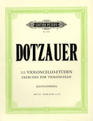 Friedrich Dotzauer - 113 Studies for Cello - Booklet 3 63-85 - Sheet Music - di-arezzo.co.uk