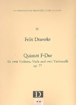 Quintet F-Dur op. 77 -Partitur + Stimmen Félix Draeseke laflutedepan
