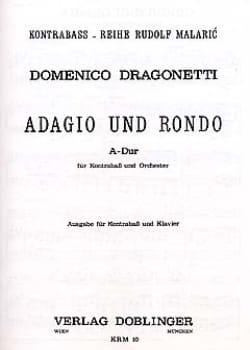 Adagio und Rondo A-Dur - Domenico Dragonetti - laflutedepan.com