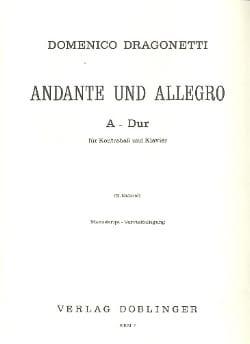 Andante und Allegro A-Dur Domenico Dragonetti Partition laflutedepan