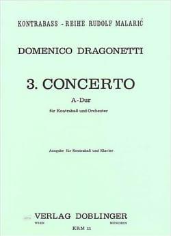 Domenico Dragonetti - Concerto n° 3 A-Dur - Partition - di-arezzo.fr