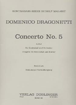 Concerto n° 5, A-Dur - Kontrabass Domenico Dragonetti laflutedepan