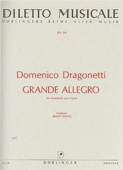 Domenico Dragonetti - Grande Allegro - Partition - di-arezzo.fr