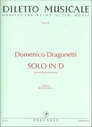 Solo D-Dur Domenico Dragonetti Partition Contrebasse - laflutedepan