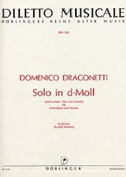 Solo in d-Moll Domenico Dragonetti Partition laflutedepan