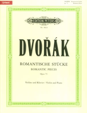 DVORAK - Romantische Stücke op. 75 - Sheet Music - di-arezzo.co.uk