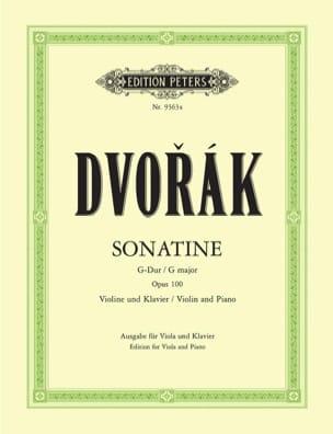Sonatine G-Dur op. 100 – Viola - Antonin Dvorak - laflutedepan.com