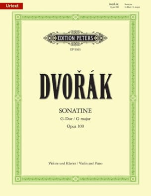 DVORAK - Sonatine Op. 100 in G Major - Sheet Music - di-arezzo.com